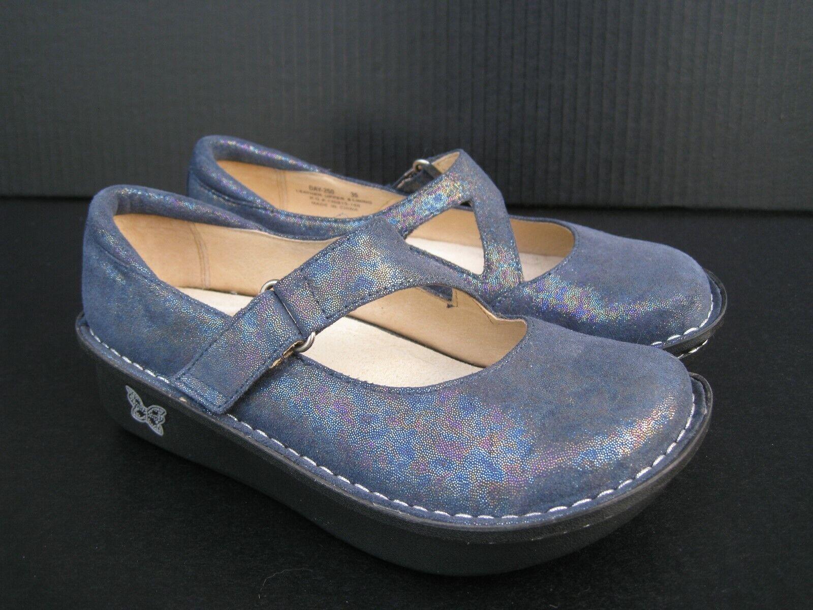 Alegria Day-250 bleu femme SPARKLE Mary Janes, Taille 35 EU