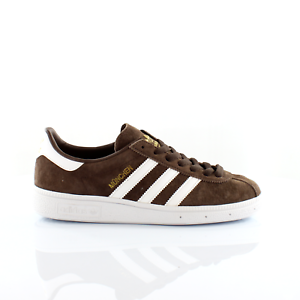 Details about Adidas Originals Munchen Mens Trainers Lace Up Shoes Brown BY1722
