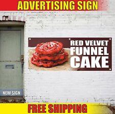 Red Velvet Funnel Cake Advertising Banner Vinyl Mesh Decal Sign Pie Pastry Candy