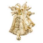 Temperament Christmas Leaf Bells Badge Lapel Jingle Boho Fashion Brooch Pin 6n