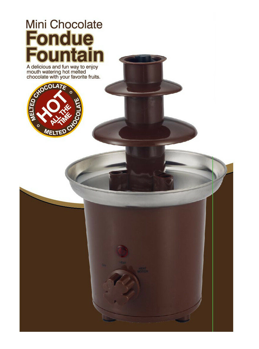 New Stainless Steel Chocolate Fondue Fountain For Dipping