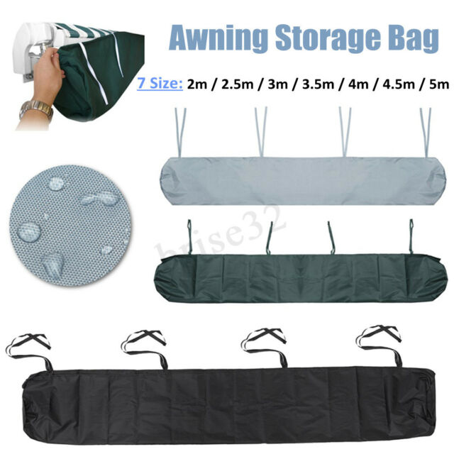 2m-5m Awning Weather Rain Cover Patio Awnings Sun Canopy Storage Bag Protector