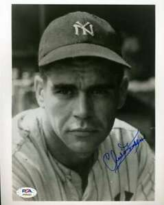 Charlie Keller PSA DNA Coa Hand Signed 8x10 Yankees Photo Autograph