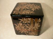 Large Japanese Bento Box Jubako Bamboo Motif 3 tier  Food Storage #22