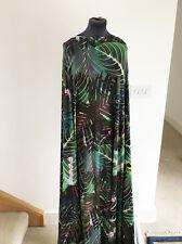 Impresión jungla exótica & botánico Tela estiramiento jersey Confección De Palma