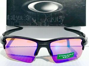 81816ee477d NEW  Oakley FLAK JACKET 2.0 BLACK polished PRIZM GOLF Lens Sunglass ...
