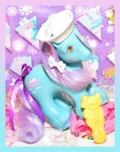 My-Little-Pony-G1-Vtg-BIG-BROTHER-Boy-SALTY-Tug-Sailor-Boat-HAT-Frog-Brush