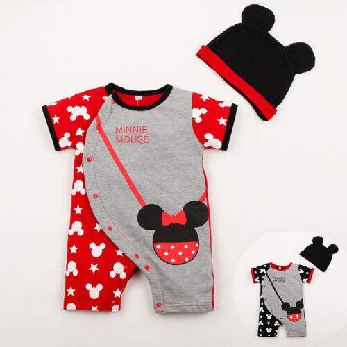 100/% Cotton 2PC baby lovely cartoon bodysuit+hat baby boys girls clothes summer