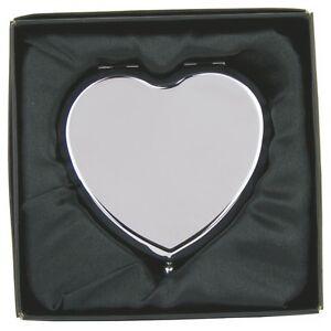 Personalizzato a forma di cuore specchio compleanno engagement ebay - Specchio a cuore ...