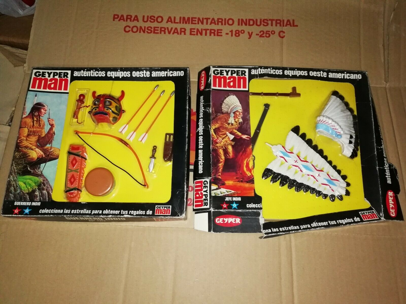 GEYPERMAN ORIGINAL LOTE JEFE Y GUERRERO INDIO NUEVO EN CAJA ACTION MAN INDIAN