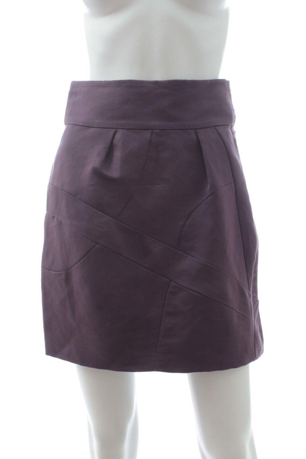 Chloe Silk Mini Skirt   Purple