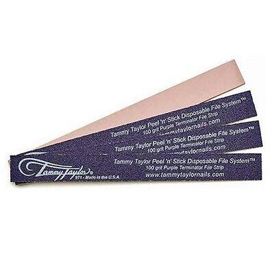 Tammy Taylor Nail Files - 100 Grit Purple Terminator - Peel N Stick - 10 Pack