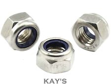 NYLOC NYLON INSERT LOCKING NUTS M3,4,5,6,8,10,12 A4 MARINE GRADE STAINLESS STEEL