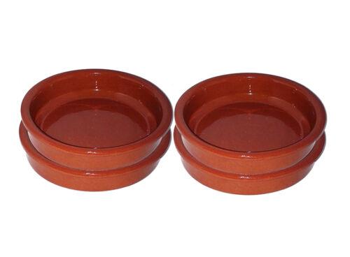 4x21cm Terracota platos de tapas Rústico-Cazuela Sartenes Arcilla-entrega al día siguiente Gratis