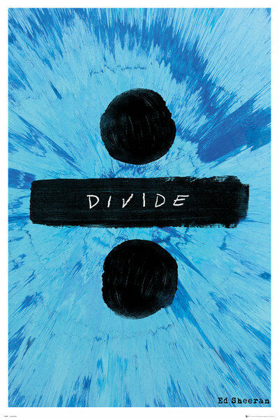 "NEW Music Poster Ed Sheeran Tattoos 36/"" x 24/"""