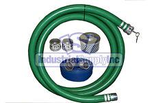 2 Green Pvc Fcam X Mp Suction Hose Trash Comp Kit With100 Discharge Hose Fs