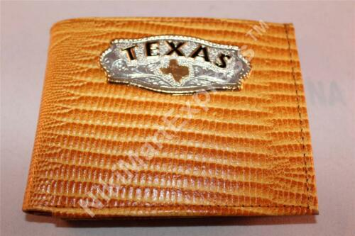 Real Leather Snake Embossed Western BIFOLD RODEO WALLET Cast Texas Concho