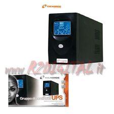 UPS TECHMADE 650VA DISPLAY LCD GRUPPO DI CONTINUITA  BATTERIA VIDEOSORVEGLIANZA