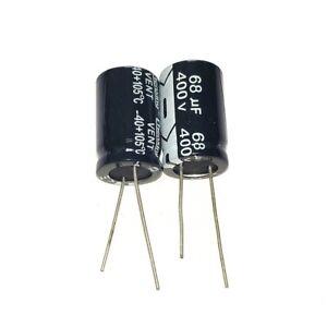 400V 1uF 2.2uF 3.3uF 4.7uF 6.8uF 8.2uF 10uF 15uF 22uF Electrolytic Capacitors