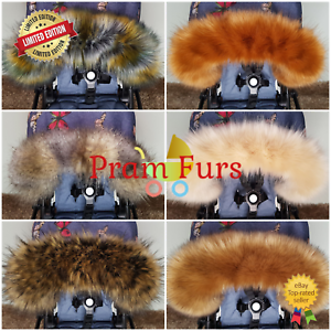 Pram-Fur-Hood-Trim-FAST-DELIVERY-Prams-Furs-Pink-Blue-White-Black-Silver-Brown