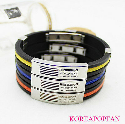 Bigbang G-dragon gd titanium steel Bracelet MADE KPOP NEW