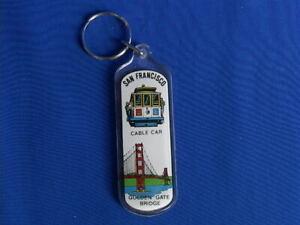 San Francisco Key Chains Souvenir - Golden Gate Bridge/Cable Car