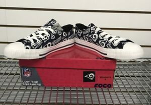 b1afc51786d455 NFL FOCO LA Rams Repeat Print Low Top Sneakers Women s Size 7