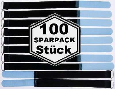 100 X Velcro Fascette Per Cavi 300 X 20 Mm Blu Chiaro Cavo Nastro Di Velcro Cavo Velcro Nastro Di Velcro-