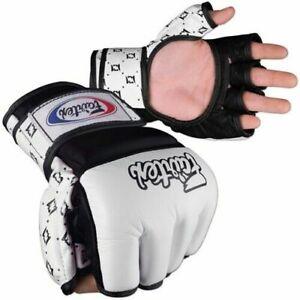 NEW-Fairtex-MMA-Amateur-Competition-Gloves-White-amp-Black-Sz-Large-UFC