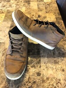Reef-Boots-Brown-Spiniker-Mid-ND-Distressed-Leather-Boots-Sneakers-Mens-Size-9
