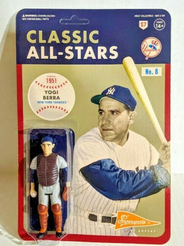 Super7 ReAction Classic All-Stars MLB Baseball YOGI BERRA 3.75 Figure