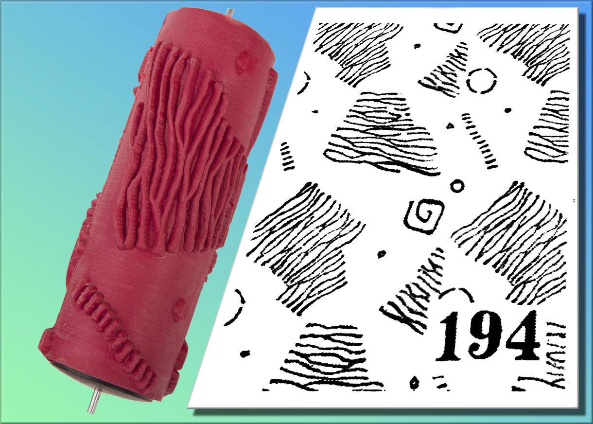 194 Malerrolle,Strukturwalze,Malerwalze,Strukturrolle;Musterwalze Nr