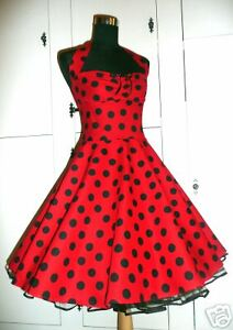 rock 39 n roll 50er jahre stil kleid rockabilly petticoat ebay. Black Bedroom Furniture Sets. Home Design Ideas