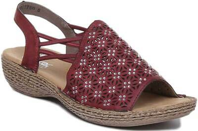 Rieker 658B2 35 Women Synthetic Elasticated Crystal Sandal