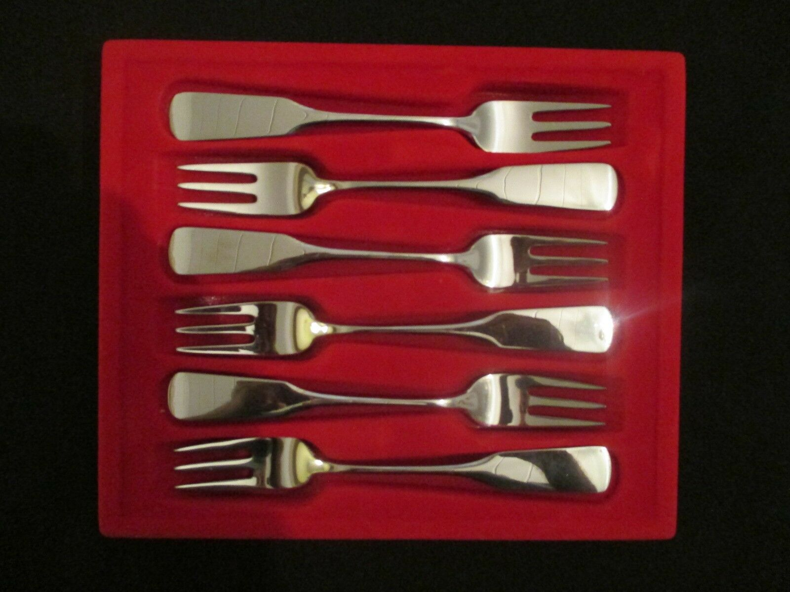 Wmf saturne Cromargan 6 gateau fourchette 15,3 cm 6 pcs. note 1-2 Fourche Fork pilgrim top