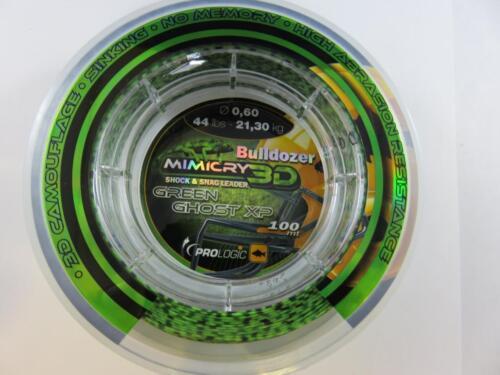 snag Leader 100m 24lb 44lb 58lb green ghost pro logic Mimicry 3d camo Shock