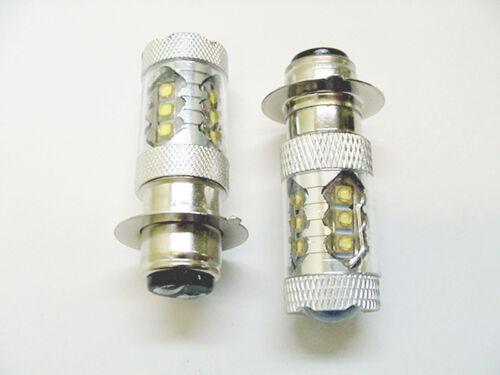 Fits Suzuki Super White 80W LEDs Headlights Bulbs 02 03 04 Quadsport Vinson 500