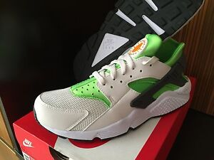 nike huarache white yellow green