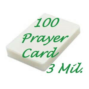 Prayer-Card-100-3-Mil-Laminating-Pouches-Laminator-2-3-4-x-4-1-2-Scotch-Quality