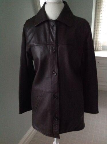 foncé petit Leather cuir Elements Manteau Elements marron de voiture pour femmes en de qATXR