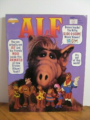 Diamond Sticker Album Book SLIDE-O-SCOPE Movie Viewer 1991 Vintage ALF