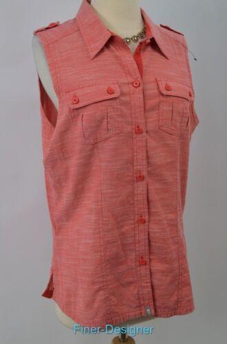 abbottonata Donna North Camicia Cotton Red Camicia Top maniche The senza Face gwvqwx4T