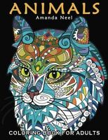 Animals Coloring Book For Adults By Happy Coloring on sale
