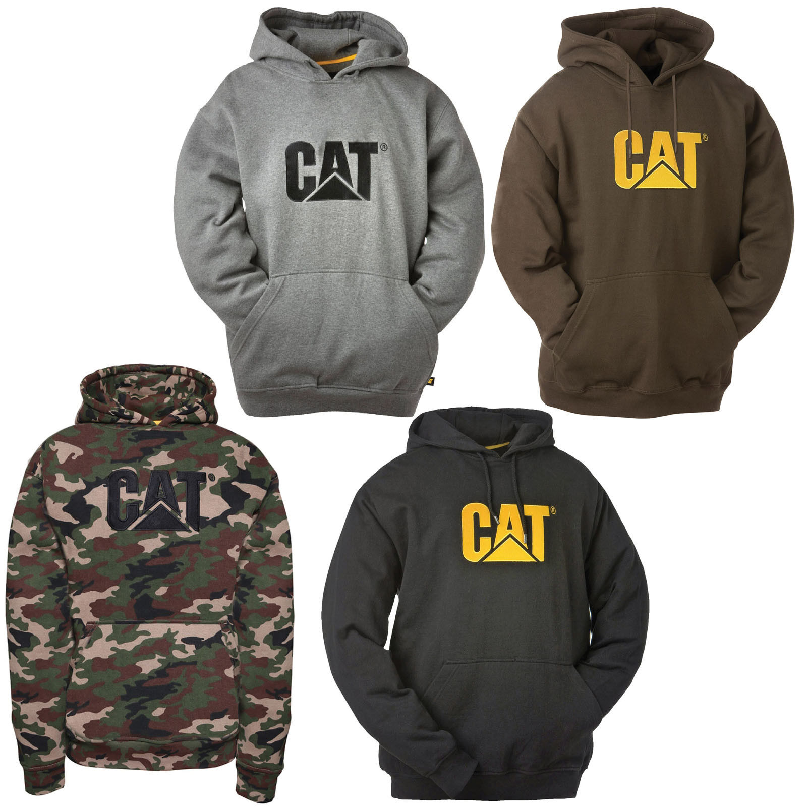 CAT Caterpillar Trademark Sweatshirt Hoodie Durable Work Jumper  Herren Sweater
