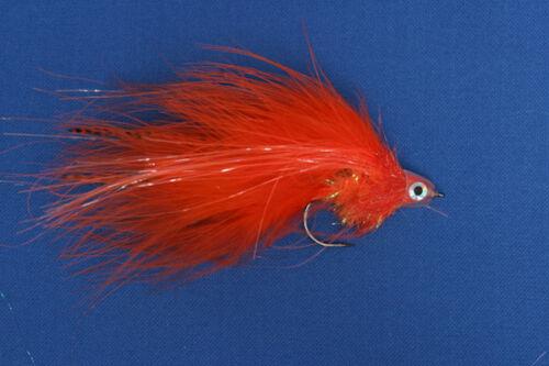 Fliegentom Streamer für Hecht und Raubfische oranger Marabou