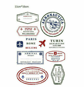 Italy Rome Transparent Clear Rubber Stamp Cling Diary Scrapbooking DIY Décor DE