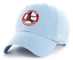ST. LOUIS CARDINALS VTG COLUMBIA STRAPBACK '47 BRAND CLEAN UP DAD HAT CAP NEW!