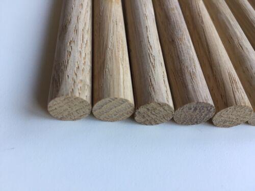 12mm Oak dowels 300mm Long 5 Oak Pegs for Stairs Coat Hooks Newl Post Dowels