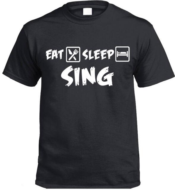 Eat Sleep Ski T-Shirt Geschenk Singing Skifahren Skifahrer