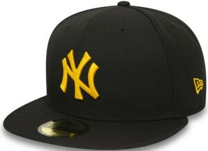 New-Era-New-York-Yankees-Black-Gold-MLB-League-Essential-59Fifty-Fitted-Cap-Men